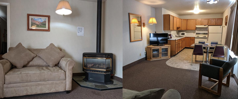 2 Queen Bedrooms Kitchenette Suite